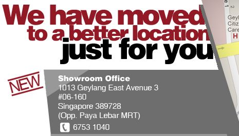 We have moved our t-shirt printing office to Paya Lebar!