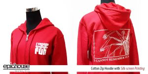 Cotton Hoodie with Printing