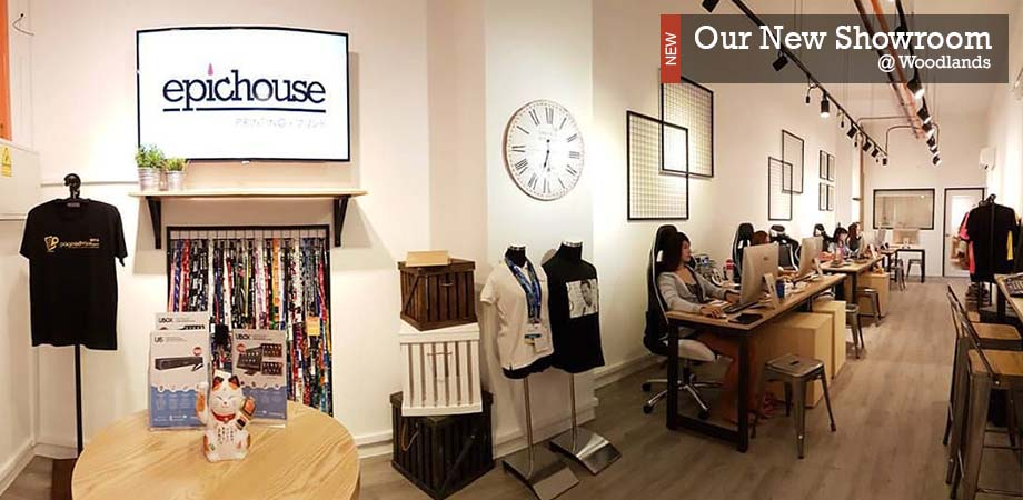Epichouse T-Shirt Printing Showroom In Woodlands