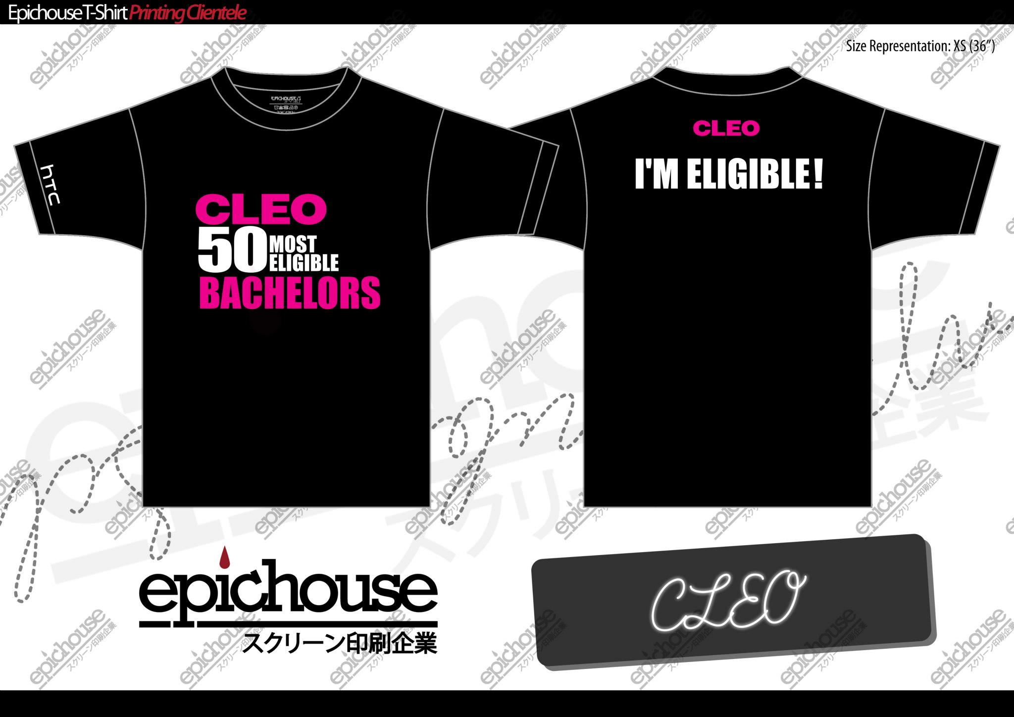 Cleo Magazine Bachelors Event T-Shirt